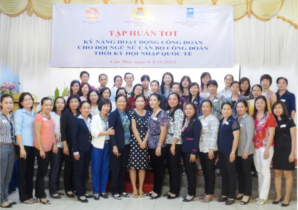 Tập huấn kỹ năng hoạt động công đoàn thời kì hội nhập quốc tế cho nữ cán bộ