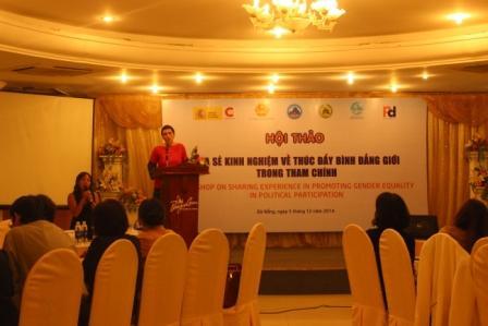 Hội thảo chia sẻ kinh nghiệm thúc đẩy bình đẳng giới trong tham chính