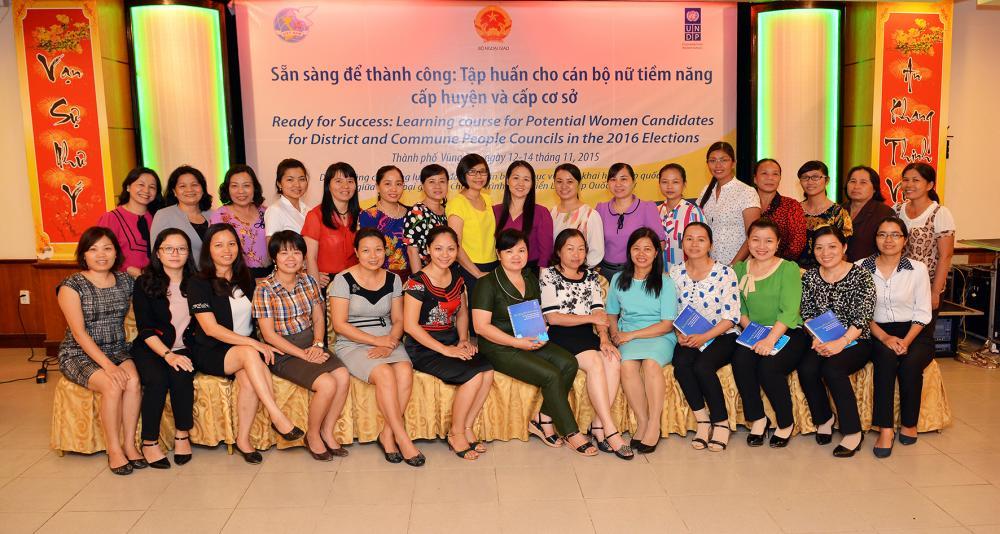 """""""Sẵn sàng để thành công"""" dành cho nữ ứng cử viên tiềm năng cấp huyện và cơ sở ở Vũng Tàu"""