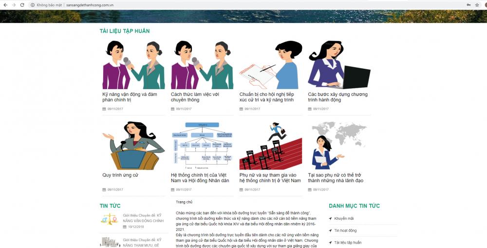 Giới thiệu về trang  web Sẵn sàng để thành công (http://sansangdethanhcong.com.vn)